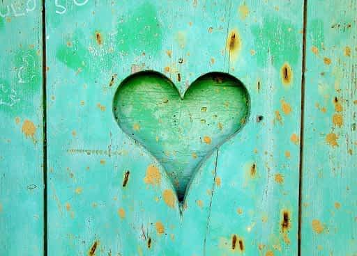 heart, wood, love